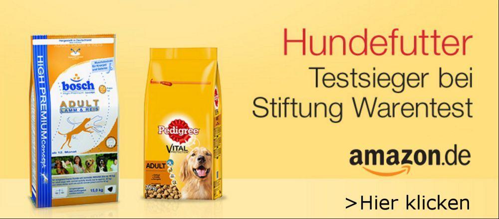 Hundefutter Testsieger von Stiftung Warentest bei Amazon.de
